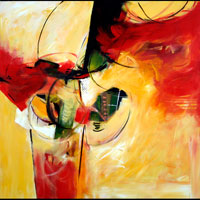 Composition in Red and Yellow, by Denise Athanas